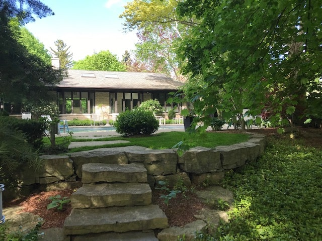 Well maintained lawn and property